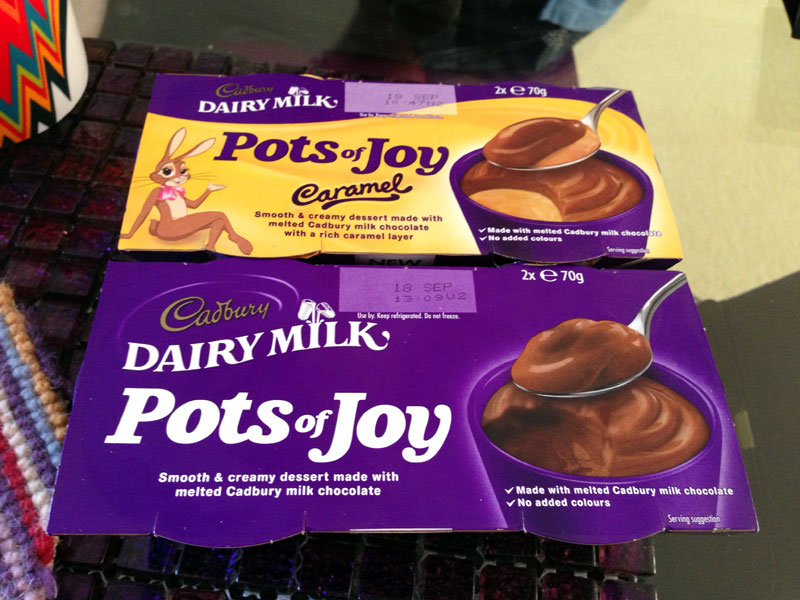 Cadbury pots of cream