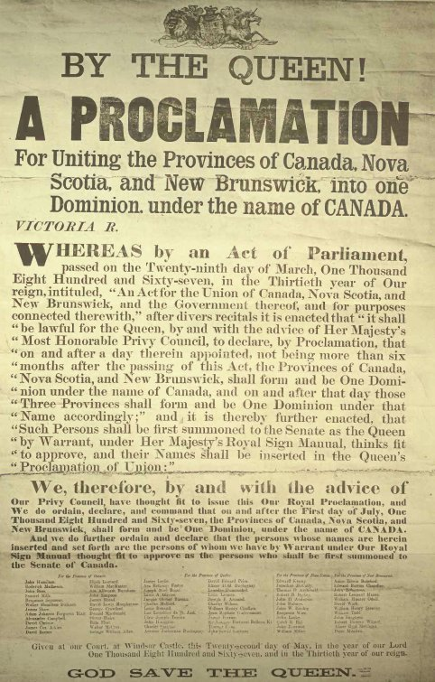 Canadian Confederation Proclamation 1867