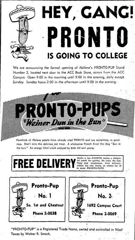 Pronto Pups Advertisement 1946