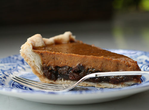 Pumpkin and Mincemeat Pie Slice
