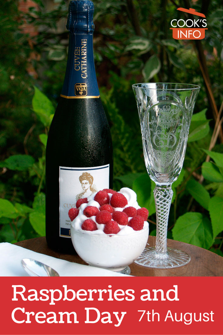 Raspberries, Cream and Bubbly