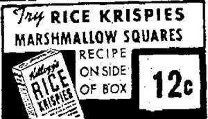 Rice Krispies Squares Ad