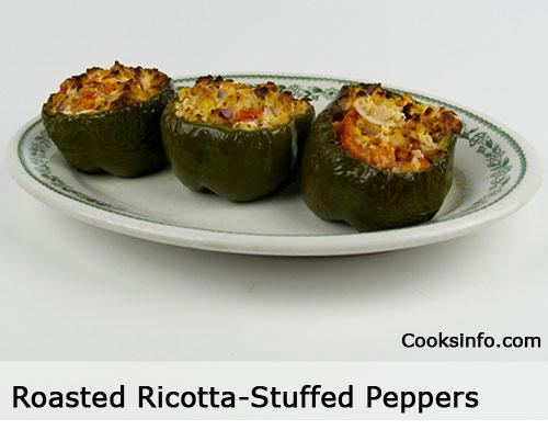 Roasted Ricotta-Stuffed Peppers Recipe