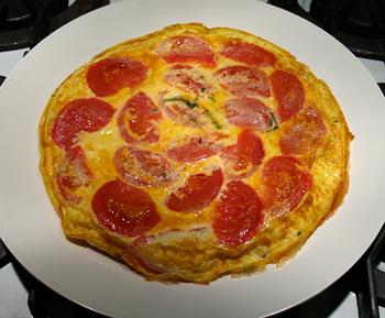 Rosemary Tomato Frittata Recipe