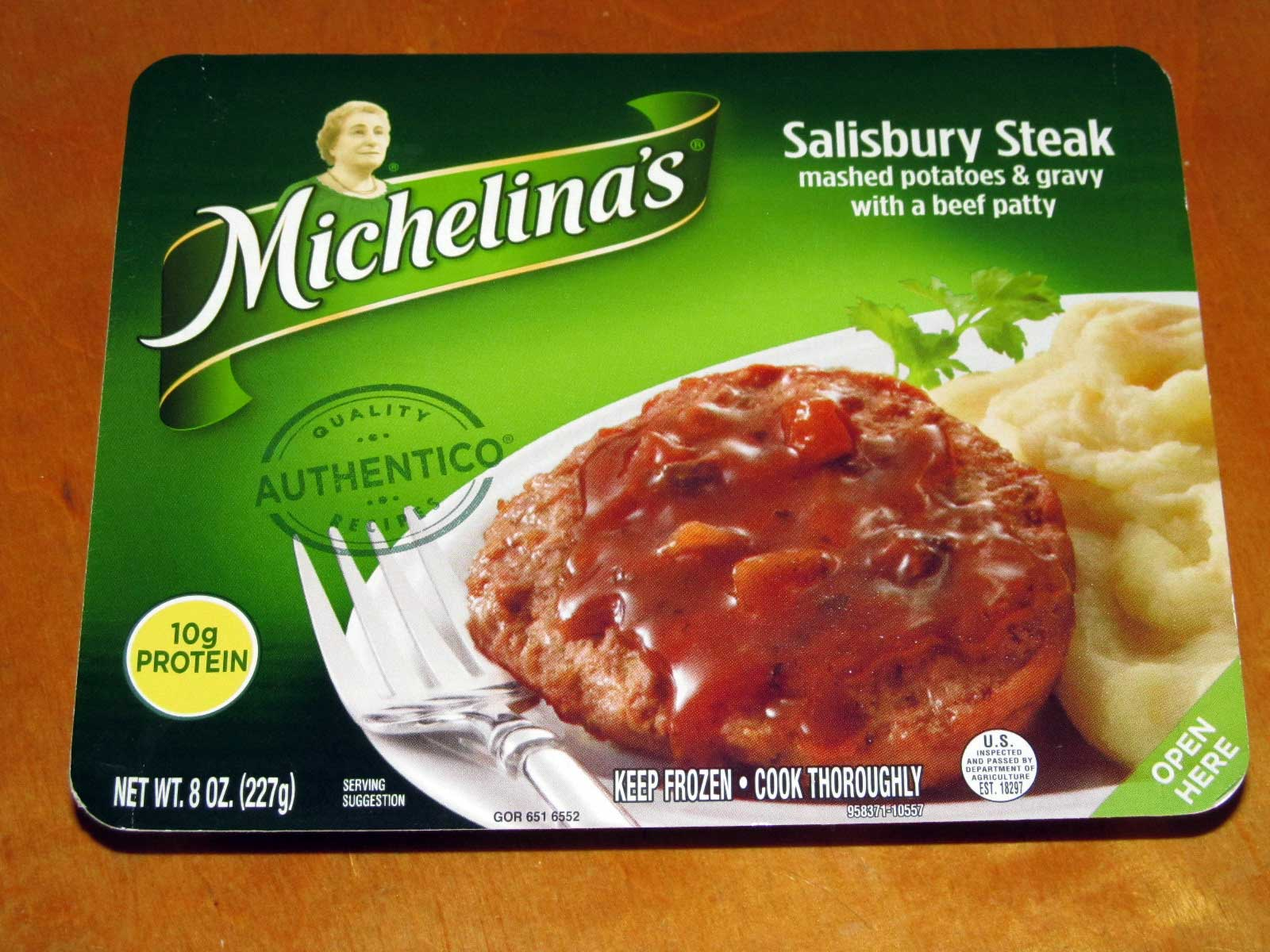 Salisbury steak frozen dinner