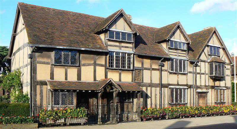 Birth place of William Shakespeare, Stratford upon Avon, England.