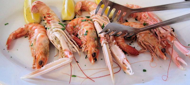 Sautéed shrimp