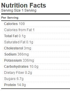 skinny thick egg nog nutrition