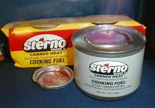 Sterno cans
