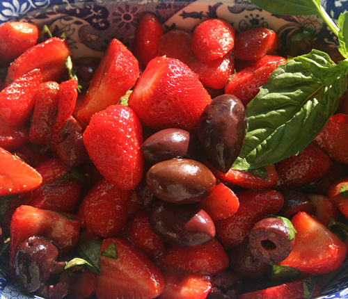 Strawberry and Olive Salad Recipe