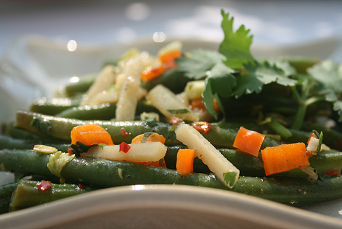 Sweet and Sour Green Bean and Water Chesnut Salad