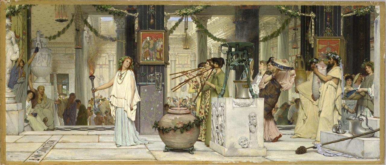 """The Vintage Festival"". Lawrence Alma-Tadema"
