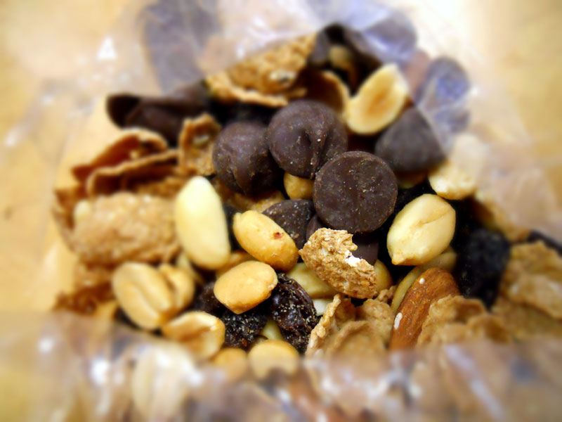 Trail mix with chocolate