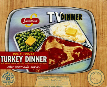 1954 Swanson TV Dinner Box