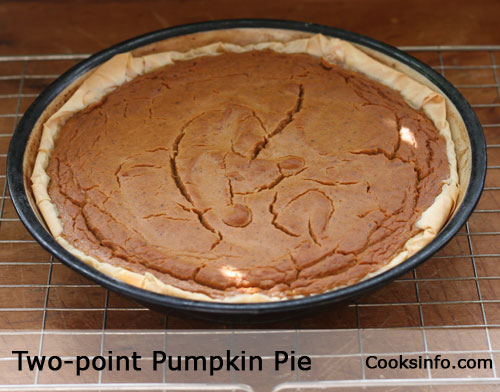 Two-point Pumpkin Pie Recipe