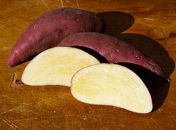 shite sweet potatoes